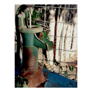 Rusted Spigot Poster