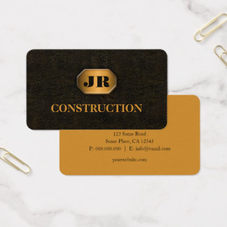Rusted Wrought Iron Metal Steel Construction Business Card