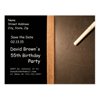 Rustic 55th Birthday Save The Date - Customizable Postcard