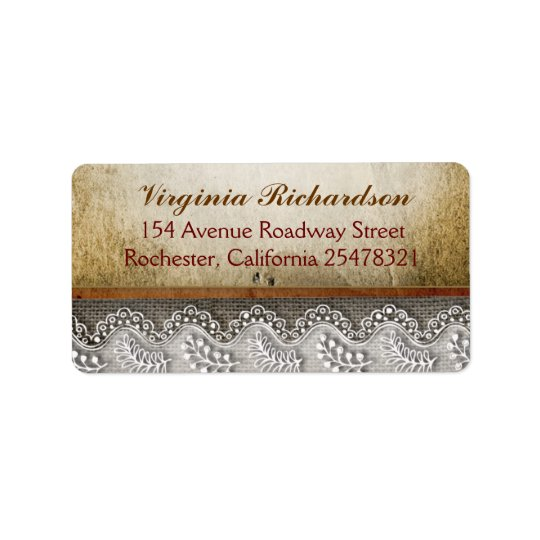 rustic address labels