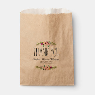 Rustic Adorned with Floral | Favor Bags