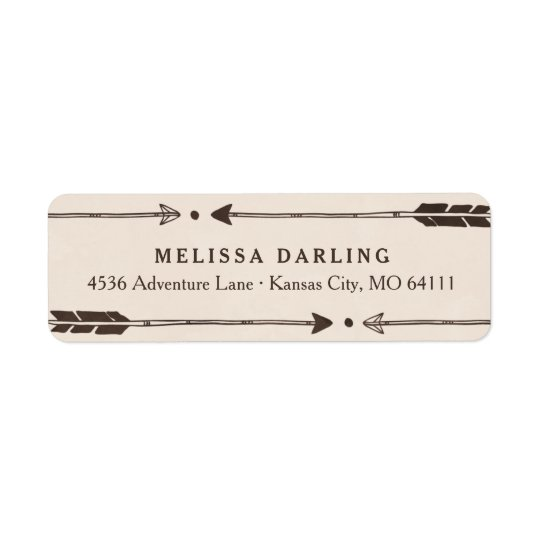 Rustic Adventure Themed Address Labels