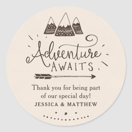 Rustic Adventure Themed Baby Shower Stickers
