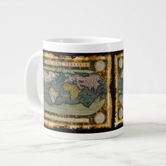 Rustic Aged Old World Map Jumbo Soup Mug Jumbo Mug