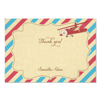 Rustic Airplane Thank You Card