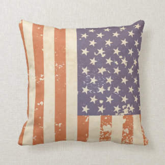 Rustic American Flag Pillow