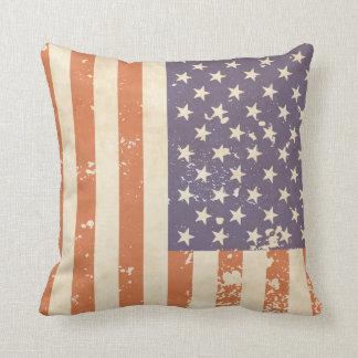 Rustic American Flag Pillow Cushions