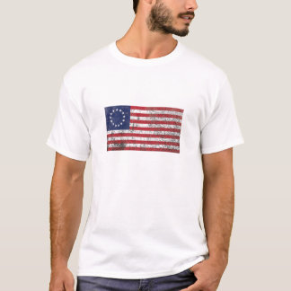 Rustic American Flag with 13 Stars T-Shirt