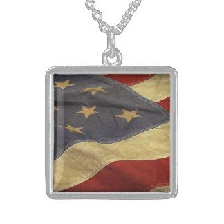 Rustic Americana Distressed Flag Pendant