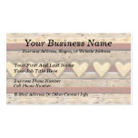 Rustic Americana Hearts Pack Of Standard Business Cards