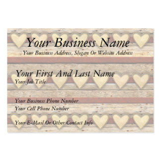 Rustic Americana Hearts Pack Of Chubby Business Cards