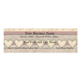 Rustic Americana Hearts Pack Of Skinny Business Cards