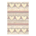 Rustic Americana Hearts Personalised Stationery