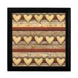 Rustic Americana Hearts Trinket Boxes