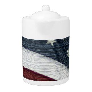 Rustic Americana Teapot