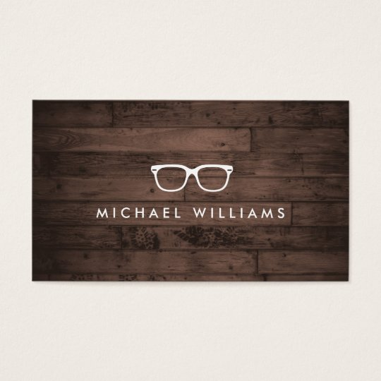 Rustic and Refined Eyeglasses Logo Brown Wood Business