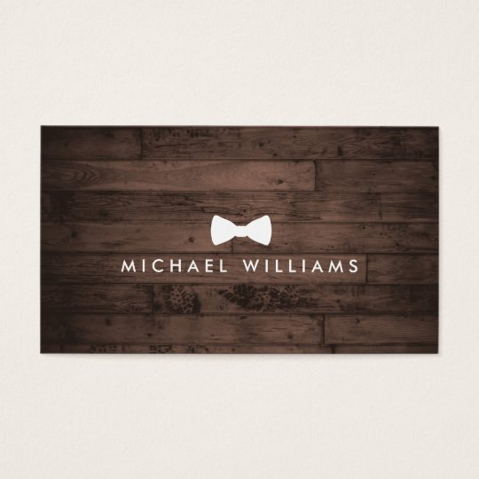 Rustic and Refined Men's Bow Tie Logo Brown
