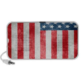 Rustic And Vintage Us Flag Notebook Speakers