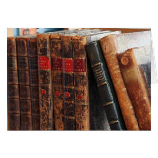 Rustic Antique Books Library Shelf Blank Notecards Card