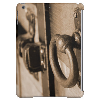Rustic Antique Door Handle Pull and Latch Sepia