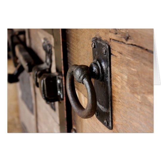 Rustic Antique Door Pull and Latch Card