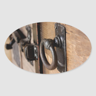 Rustic Antique Door Pull and Latch Stickers