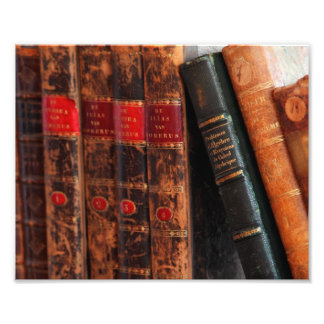 Rustic Antique Library Books Shelf Art Photo