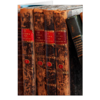 Rustic Antique Library Books Shelf Greeting Card