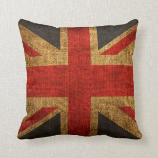 Rustic Antique Union Jack Pattern Cushion