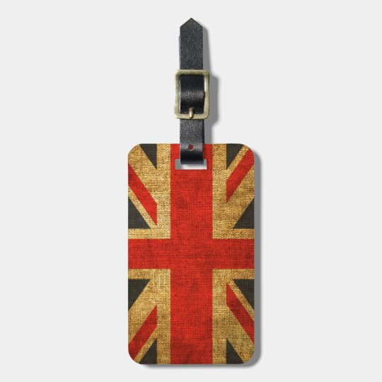Rustic Antique Union Jack Pattern Luggage Tag