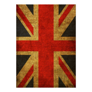 Rustic Antique Union Jack Pattern Poster