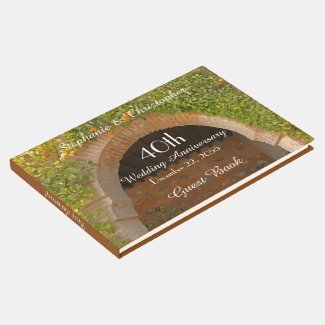 Rustic Archway Oranges 40th Anniversary Party Guest Book