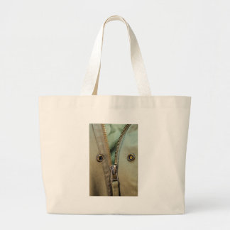 Rustic Army Green Zipper Print Jumbo Tote Bag