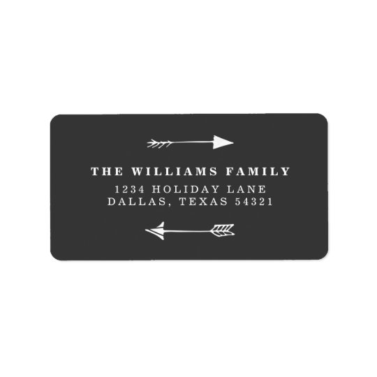 Rustic Arrow Label