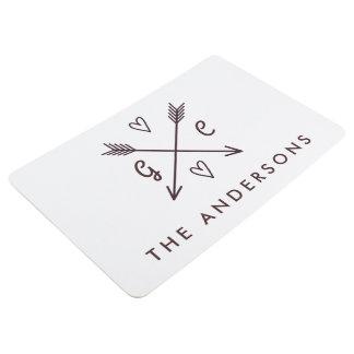 Rustic Arrows Personalized Monogram Name Floor Mat
