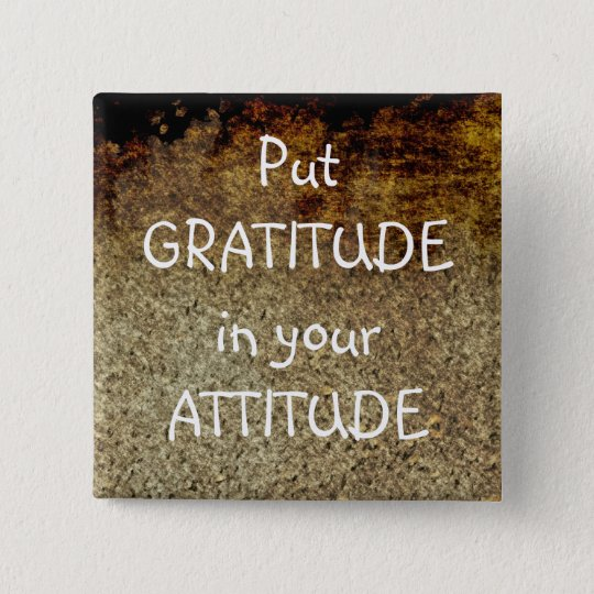 Rustic Art GRATITUDE Positive Affirmation Button