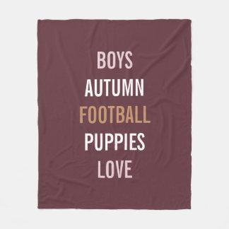 Rustic Autumn Bride Football Party Fleece Blanket