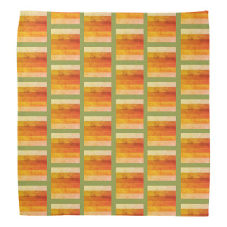 Rustic Autumn Color Pattern Bandana