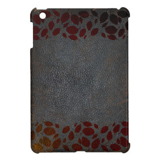 Rustic Autumn Leaves Distressed Brown Leather Look Case For The iPad Mini