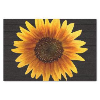 Rustic Autumn Sunflower Tissue Paper