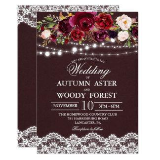 Rustic Autumn Wedding Invitation
