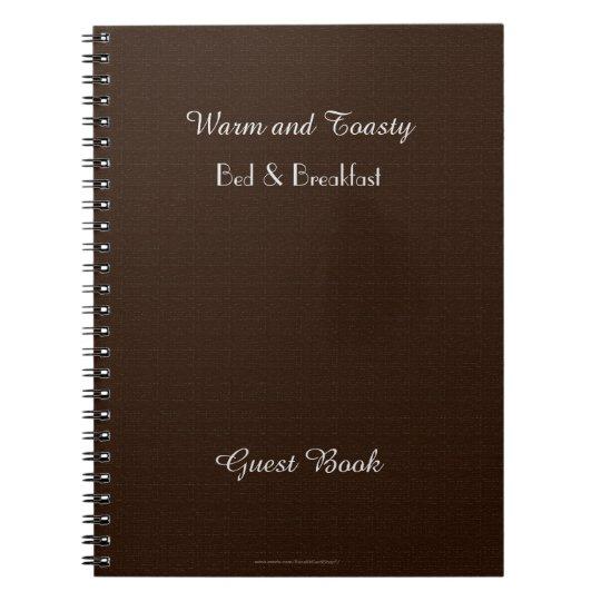 Rustic B&B Guest Book, Faux Dark Brown Burlap