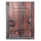 Rustic B&B Guest Book, Old Red Barn Wood Siding Notebook