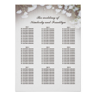 Rustic Baby's Breath Country Wedding Seating Chart Poster