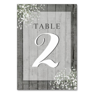 RUSTIC BABY'S BREATH TABLE CARD