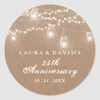 Rustic Backyard Anniversary Sticker