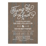 Rustic Bark Wedding Invitations Card