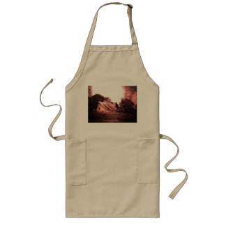 Rustic Barn, Crimson Grunge, Ethereal, Spooky Long Apron
