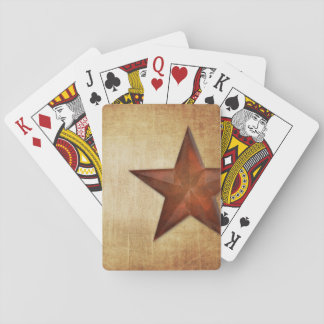 Rustic Barn Star Playing Cards