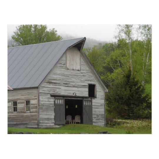 Rustic Barn- Vermont Postcard